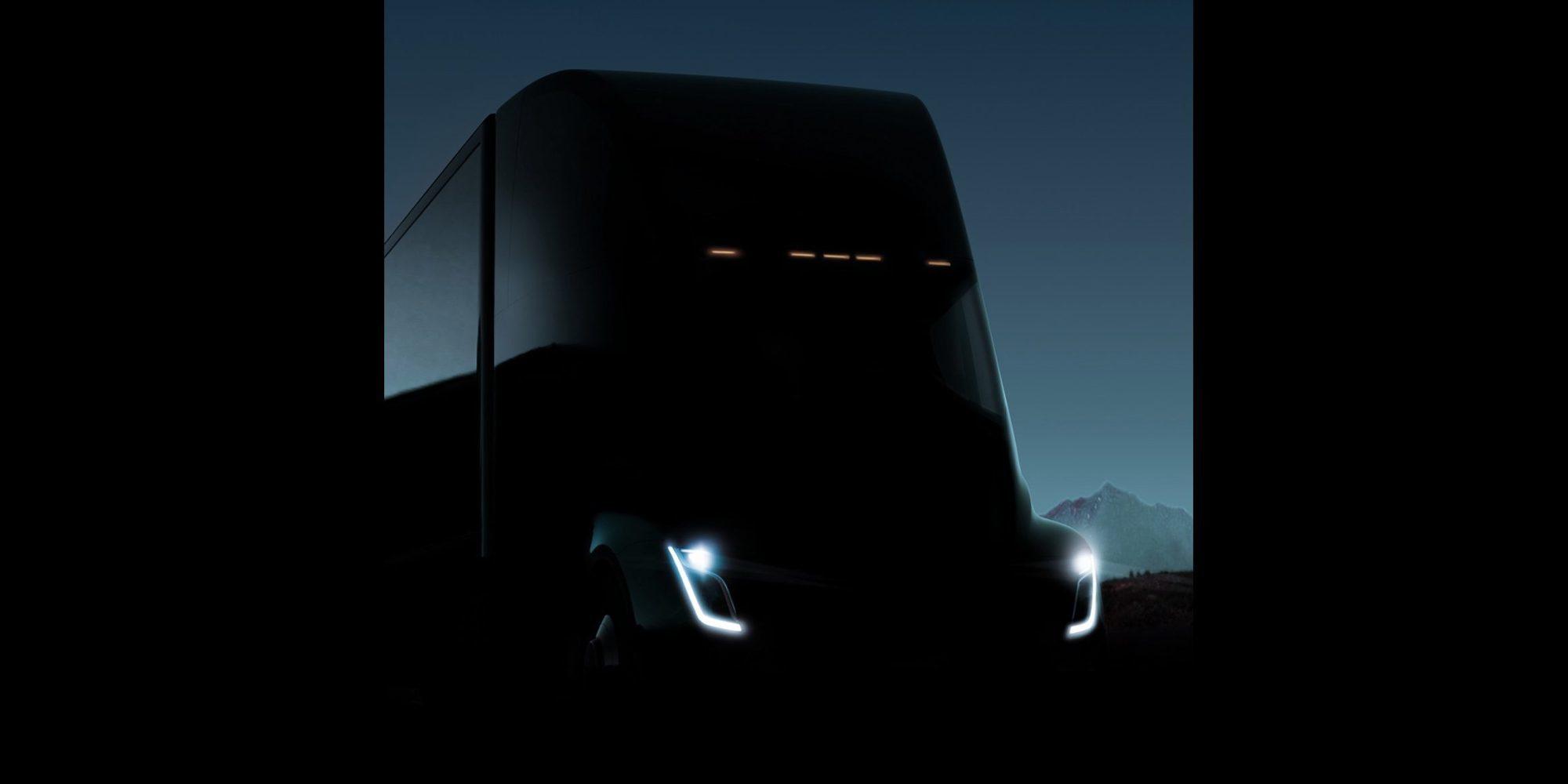 Tesla опубликовала новое изображение своего грузовика 1