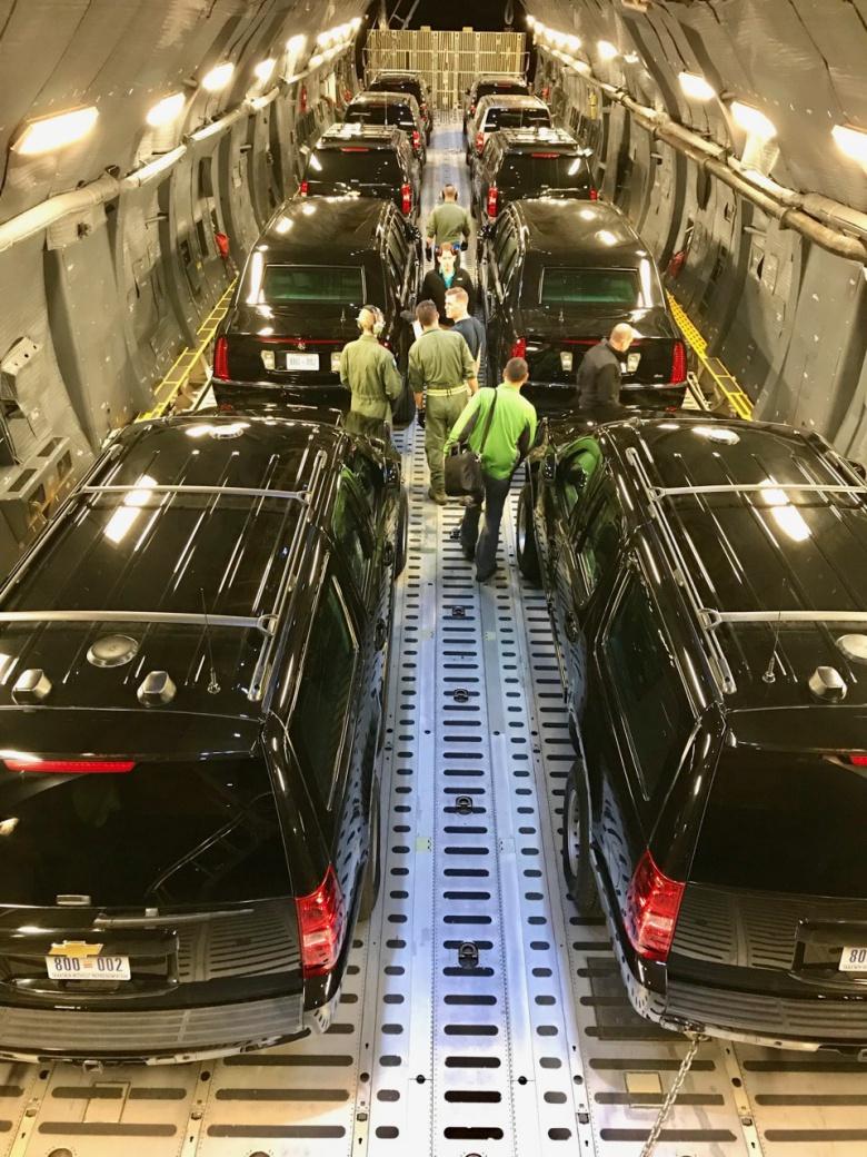 Как «путешествуют» президентские автомобили 1