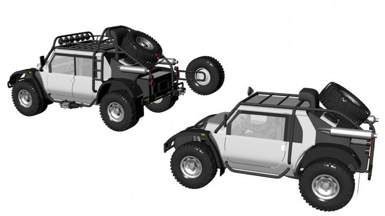 Связка из двух автомобилей планирует покорить высоту в 7000 метров 1