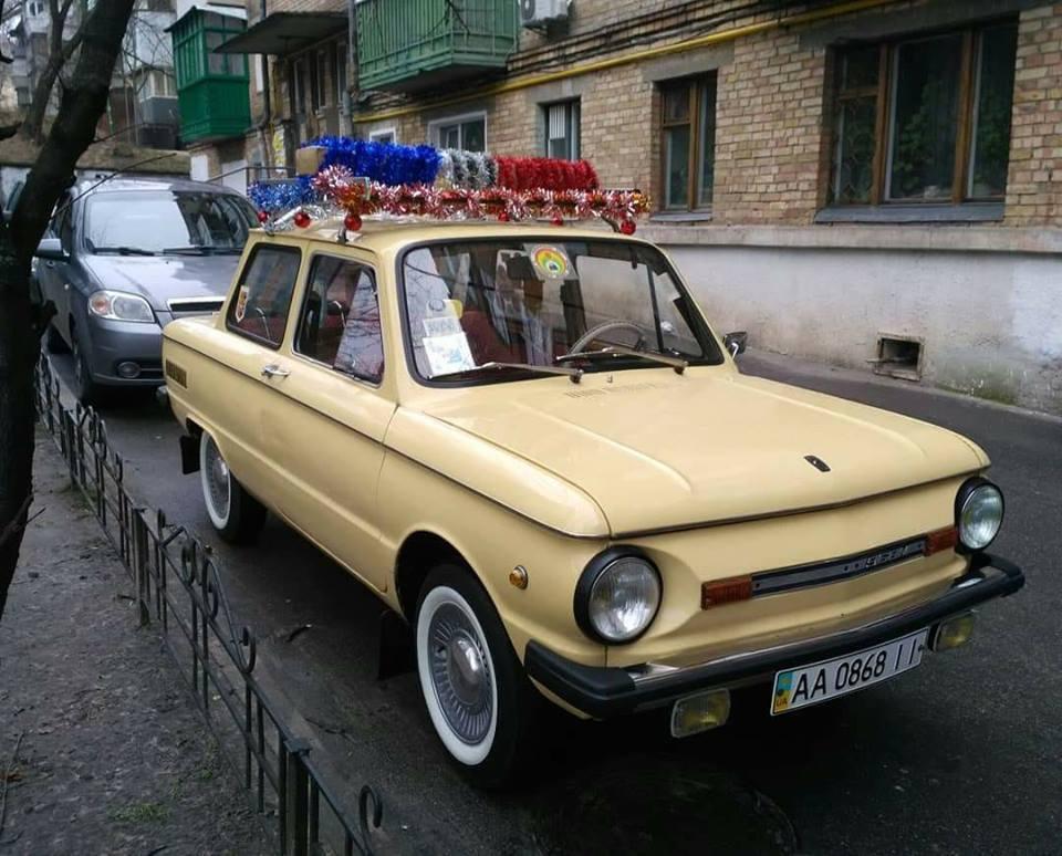 По улицам Киева колесит «полицейский» Запорожец 1
