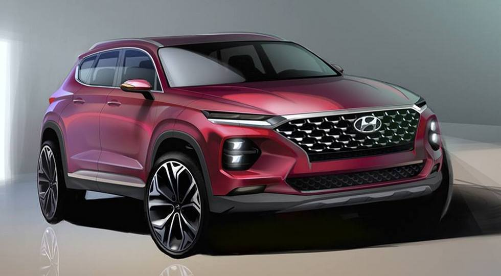 Hyundai практически полностью рассекретил новый Santa Fe 1