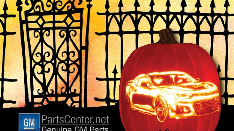 General Motors опубликовал инструкцию, как вырезать на тыкве Chevrolet Camaro 1