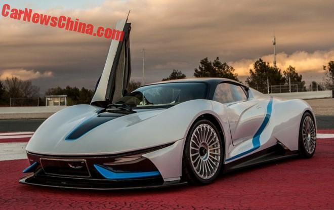 В Китае представили электрический суперкар 1