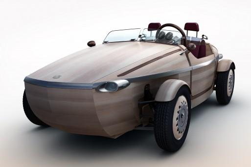 Тойота представила автомобиль из дерева 1