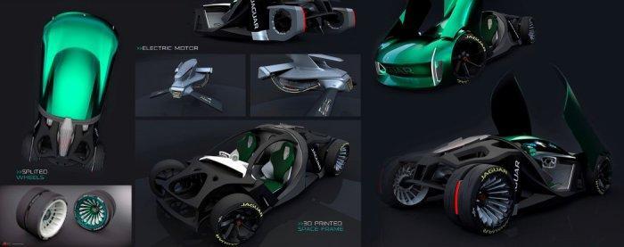 Компания Jaguar представила футуристический концепт 4
