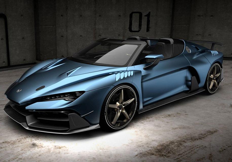 Итальянское ателье представило суперкар с двумя крышами 1
