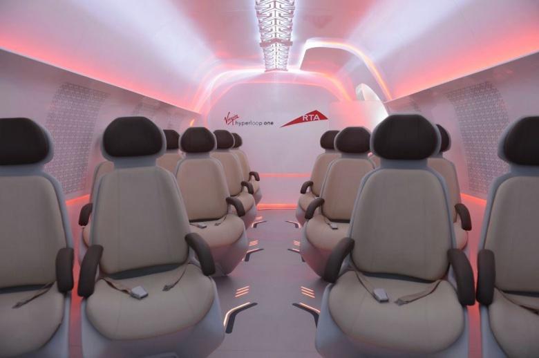 Каким будет интерьер капсул Hyperloop 1