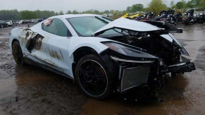 Разбитый Chevy Corvette C8 продают за 107млн. долларов 1