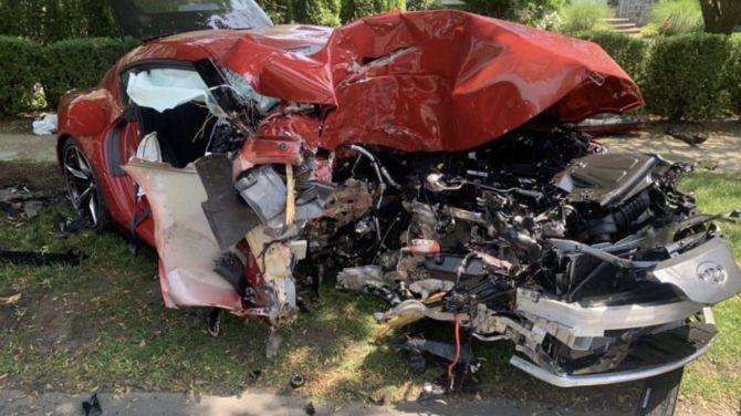 Новую Supra вдребезги разбили через километр после выезда от дилера (ФОТО) 3