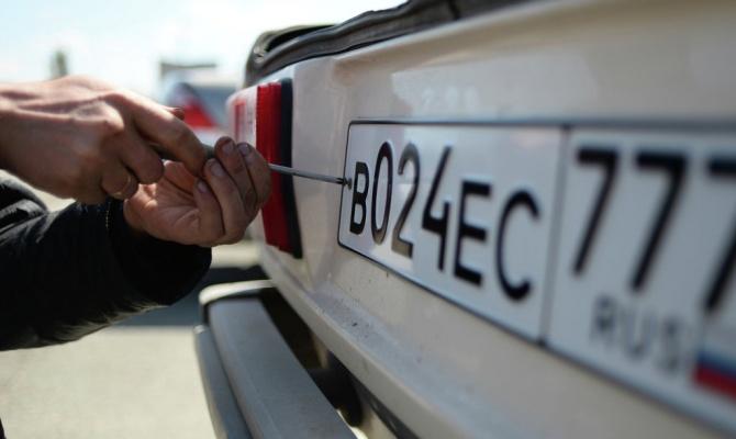 В Украину запрещен въезд автомобилей из Крыма с российскими номерами 1