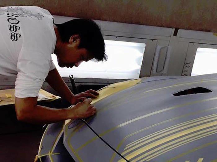 Пример сложнейшей покраски автомобиля 1