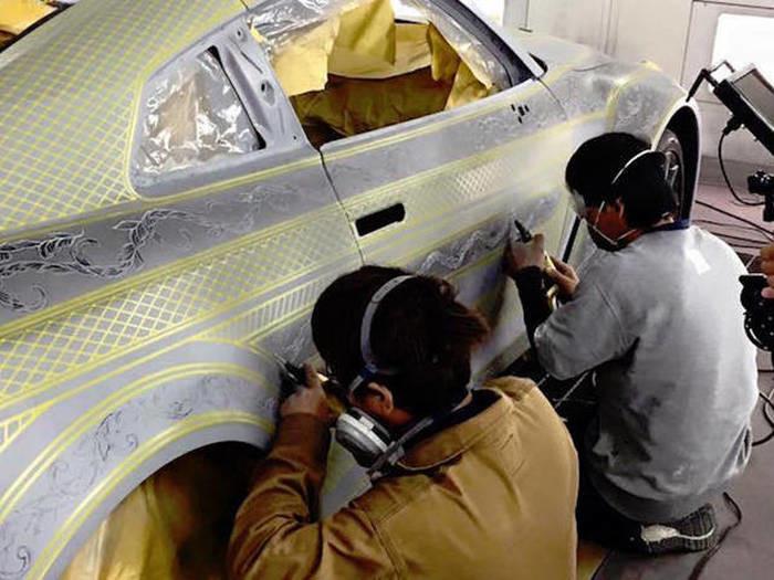 Пример сложнейшей покраски автомобиля 3
