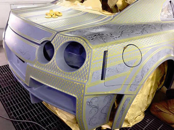 Пример сложнейшей покраски автомобиля 6