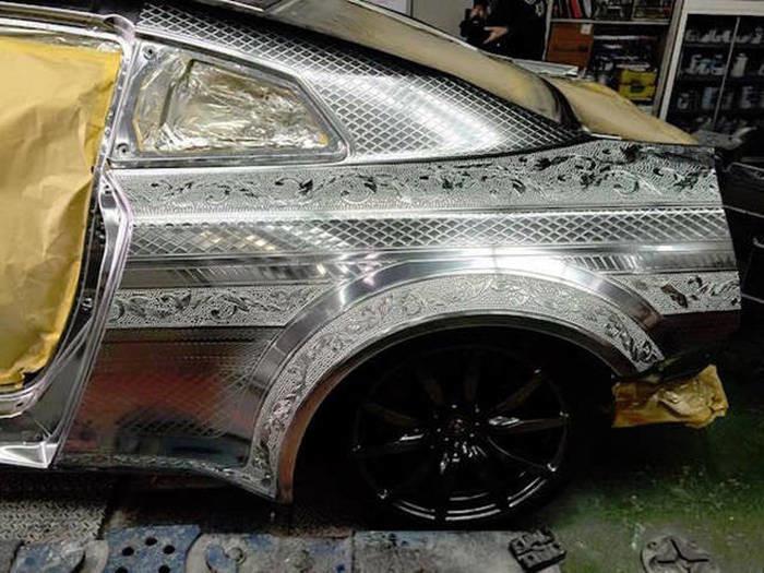 Пример сложнейшей покраски автомобиля 8