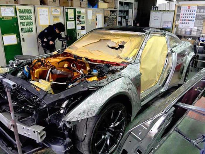 Пример сложнейшей покраски автомобиля 9