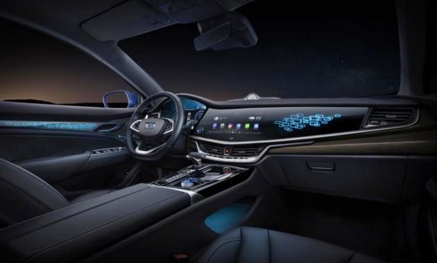 Geely продемонстрировала интерьер гибридного Emgrand GT 3