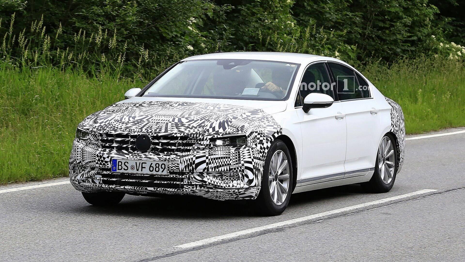 Volkswagen Passat 2019 модельного года выехал на тесты 1