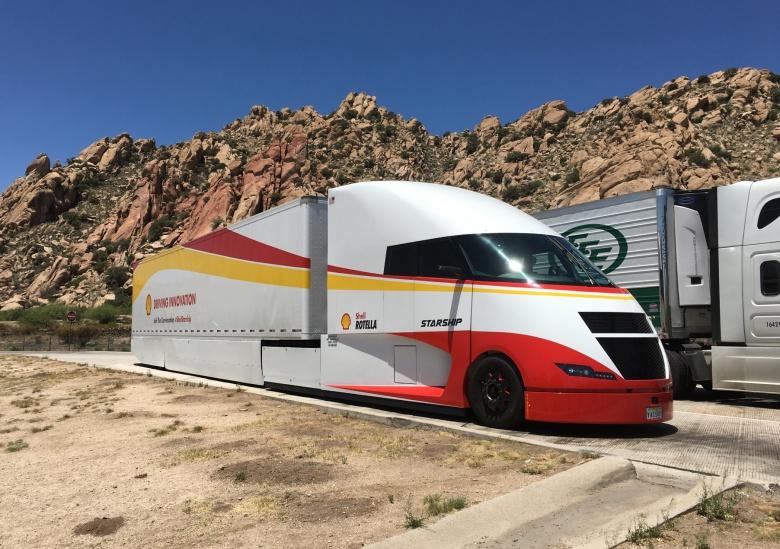 Компания Shell испытывает аэродинамический грузовик 3