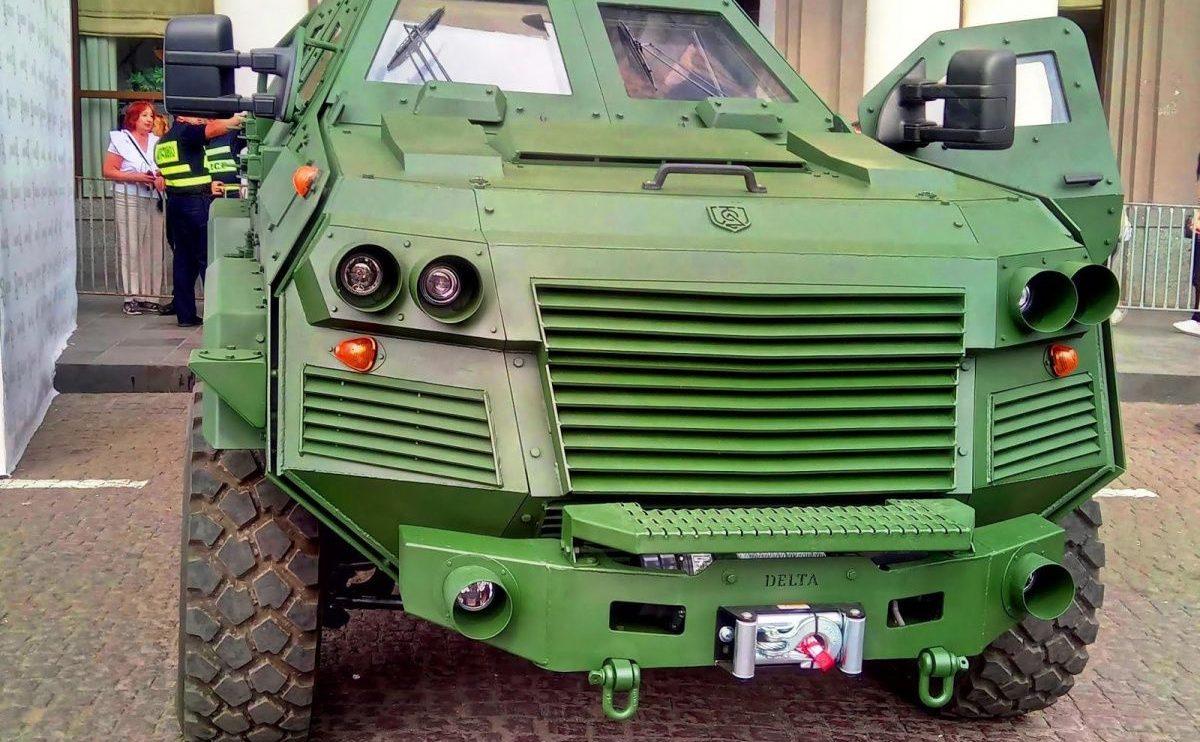 В Грузии построили новый патрульный бронеавтомобиль 1