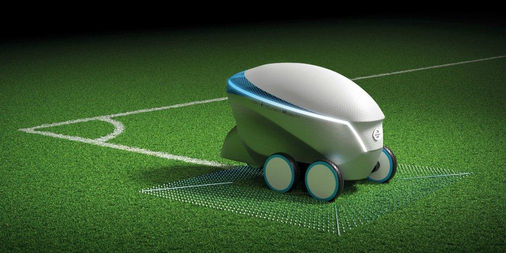 Nissan презентовал «беспилотник» для нанесения футбольной разметки 1