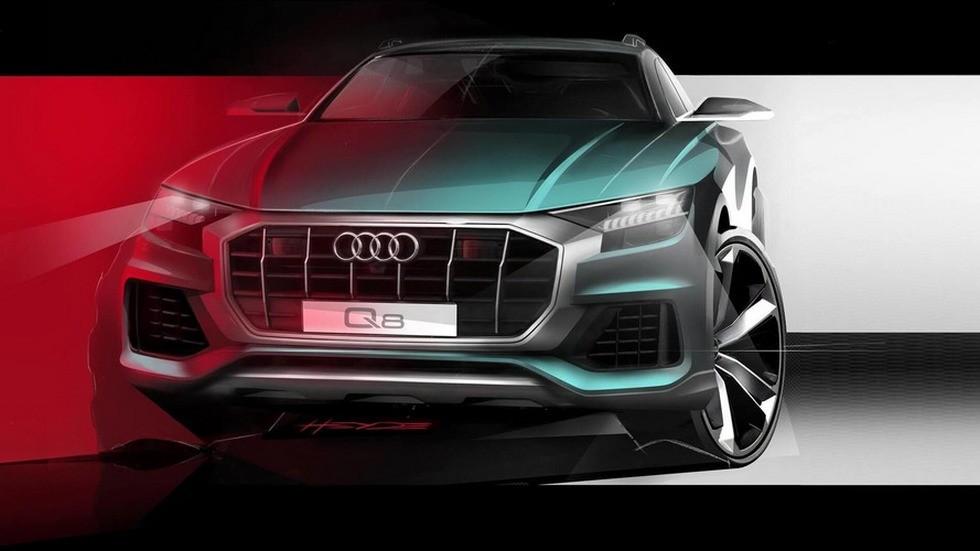 Audi раскрыла «внешность» нового кроссовера Q8 1