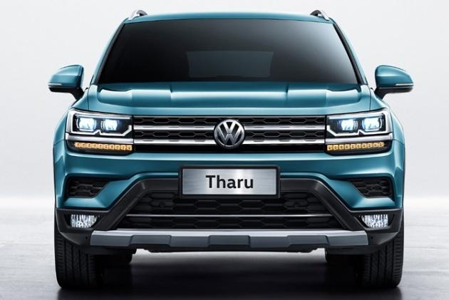 Рассекречена «внешность» кроссовера Volkswagen Tharu 1