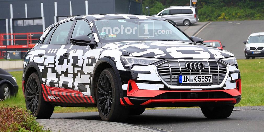 Audi тестирует свой первый электрический кроссовер 1