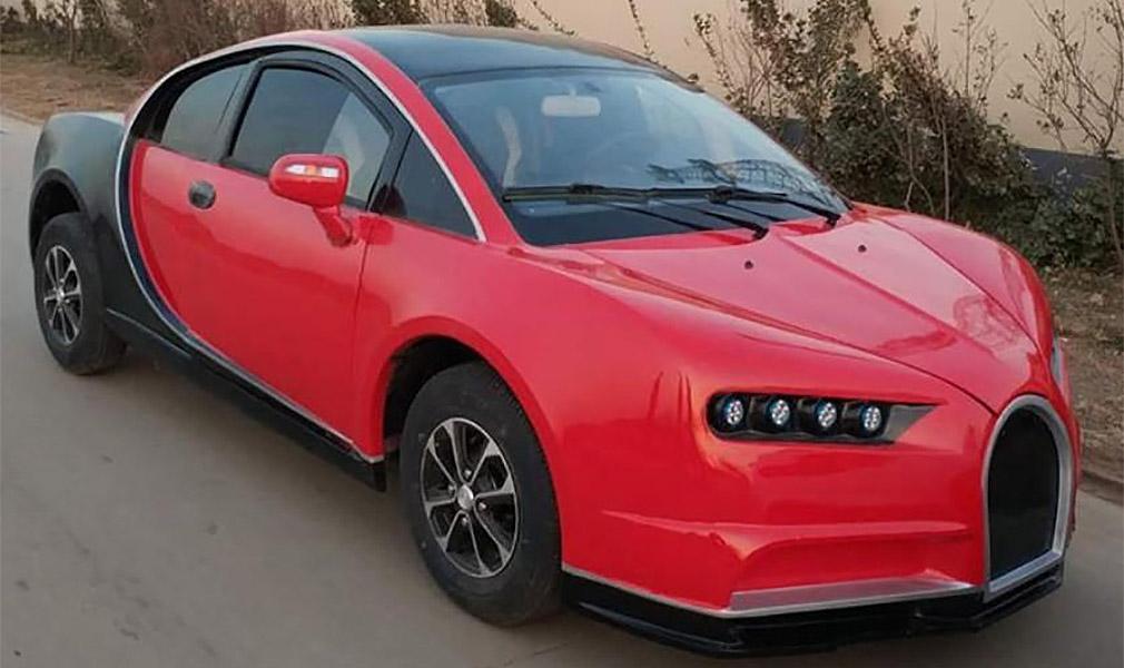 Китайцы построили 3-сильный Bugatti Chiron за 5 тысяч долларов 1