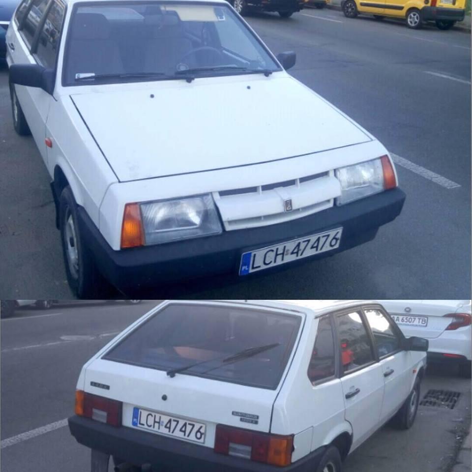 В Киеве заметили ВАЗ на польских номерах 1