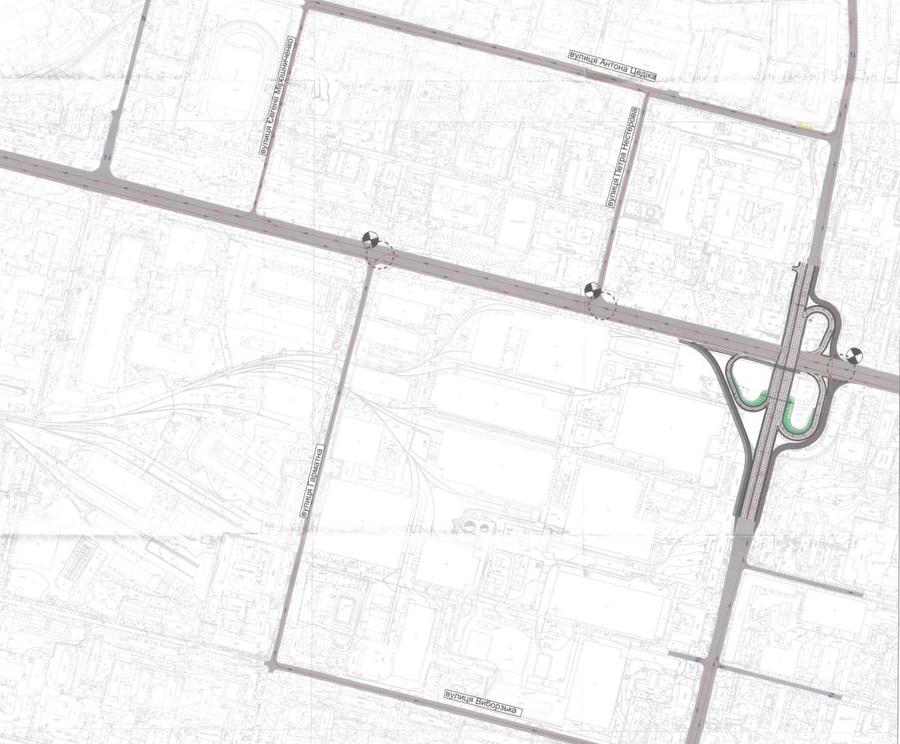 Опубликована схема движения в районе Шулявского моста на время реконструкции 1