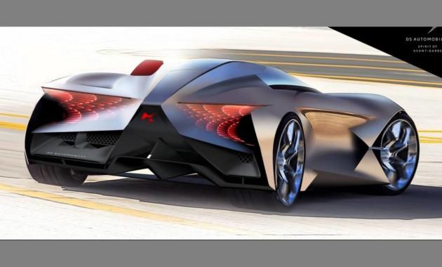 DS представил ассиметричный суперкар будущего 1