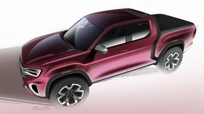 Volkswagen разрабатывает роскошный пикап Tanoak 1