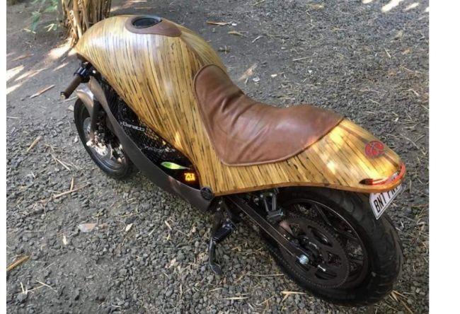 Филиппинцы построили бамбуковый мотоцикл 1