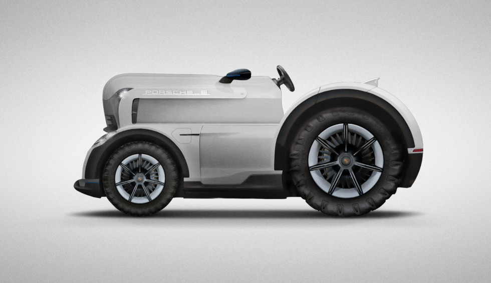 Porsche удивила общественность электрическим трактором 1