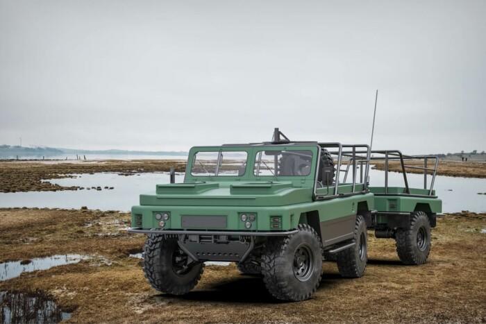 В Украине разработали машину с прицепом, которая может плавать 5