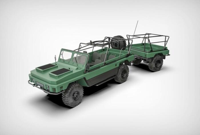 В Украине разработали машину с прицепом, которая может плавать 2