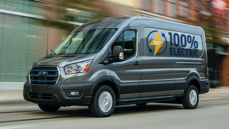 Ford презентовал электрический фургон Transit  1
