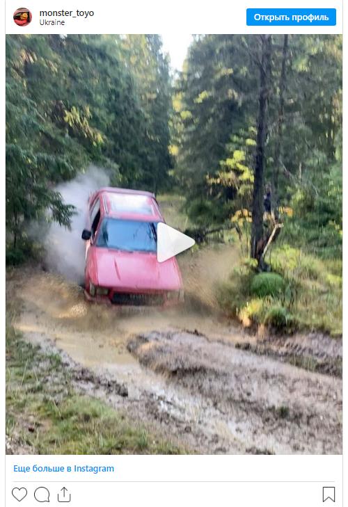 Украинец на Toyota Hilux повторяет подвиги Top Gear 1