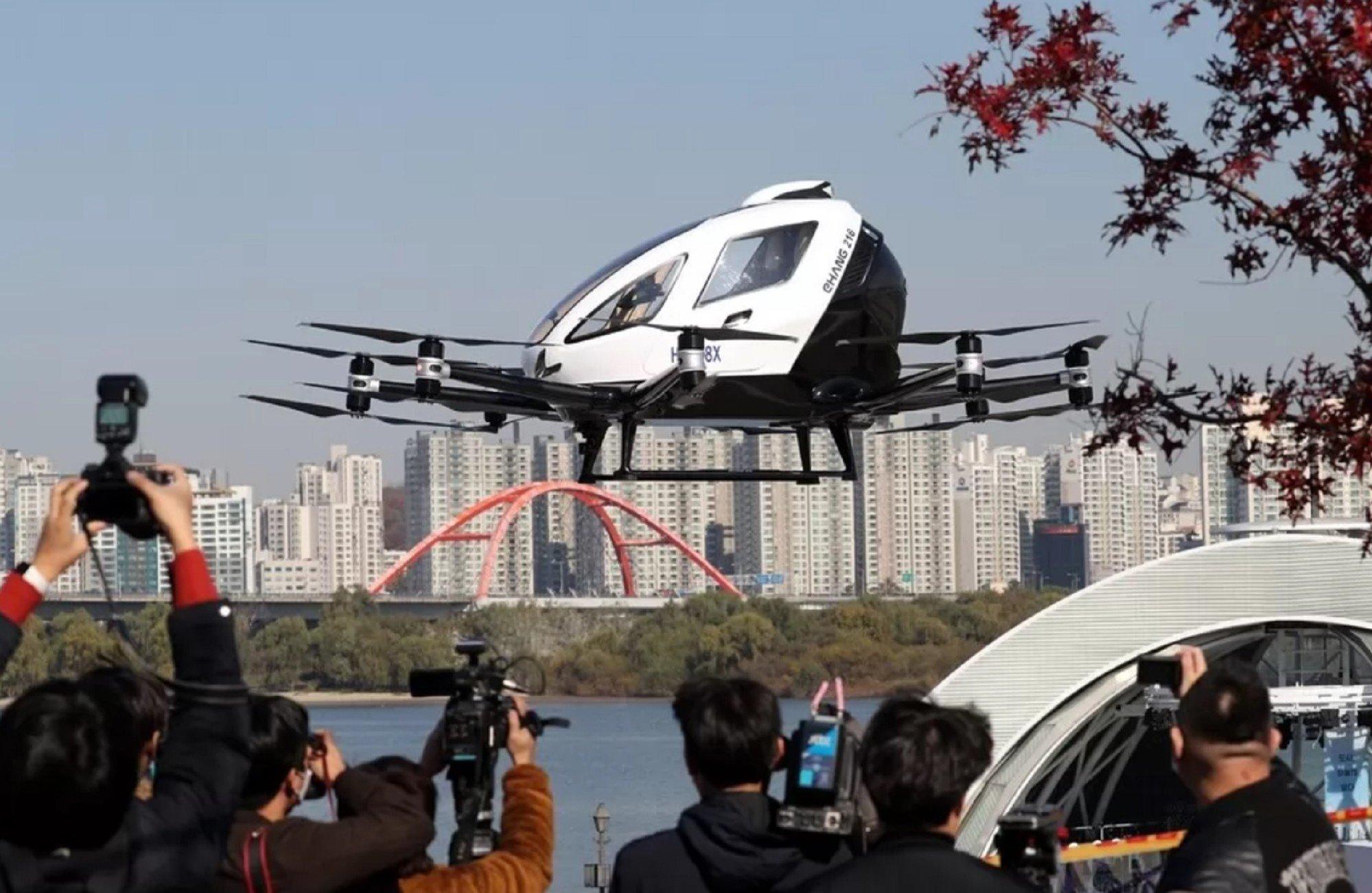 В Сеуле протестировали воздушное беспилотное такси (фото, видео) 2