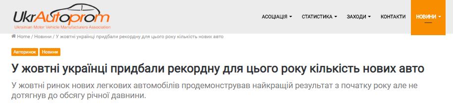Украинцы активно покупают новые машины. Самые популярные марки 1