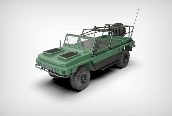 В Украине разработали машину с прицепом, которая может плавать 1