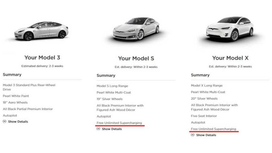 «Суперчарджеры» для Tesla Model S и X снова стали бесплатными 1