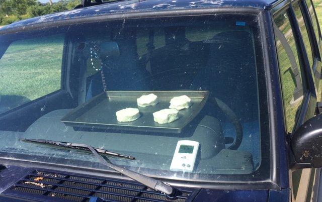 Сколько нужно времени, чтобы испечь печенье в машине под солнечными лучами 1