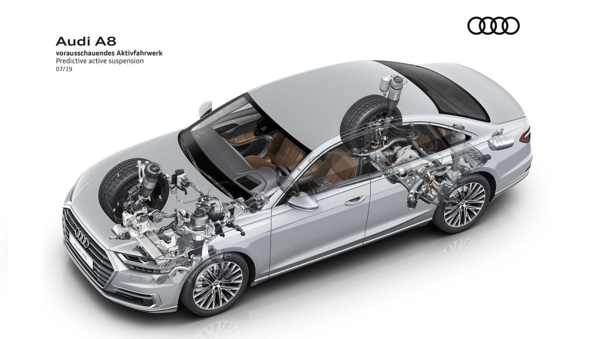 Audi оснастила A8 умной подвеской 1
