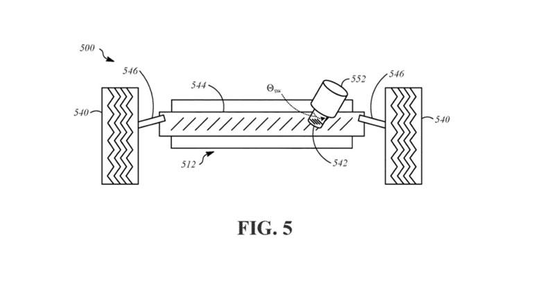 Apple запатентовала подвеску для своих автомобилей 1