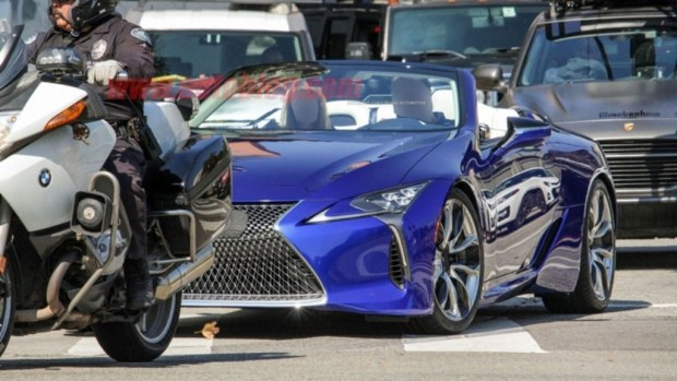 В Сети «рассекретили» cерийную вариацию кабриолета Lexus LC 1