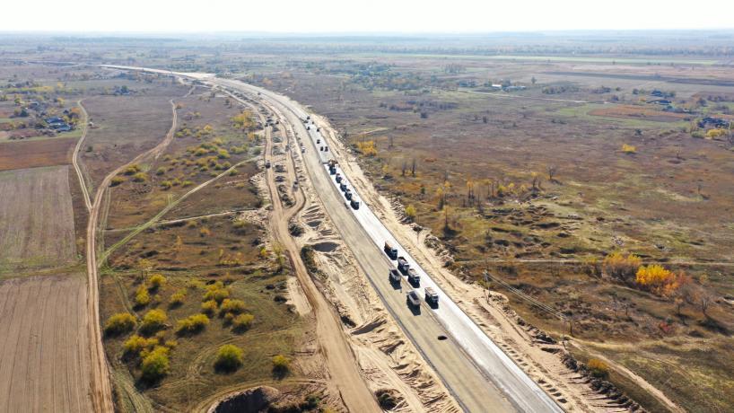 Свежие фотографии с места строительства дороги «с нуля» 5