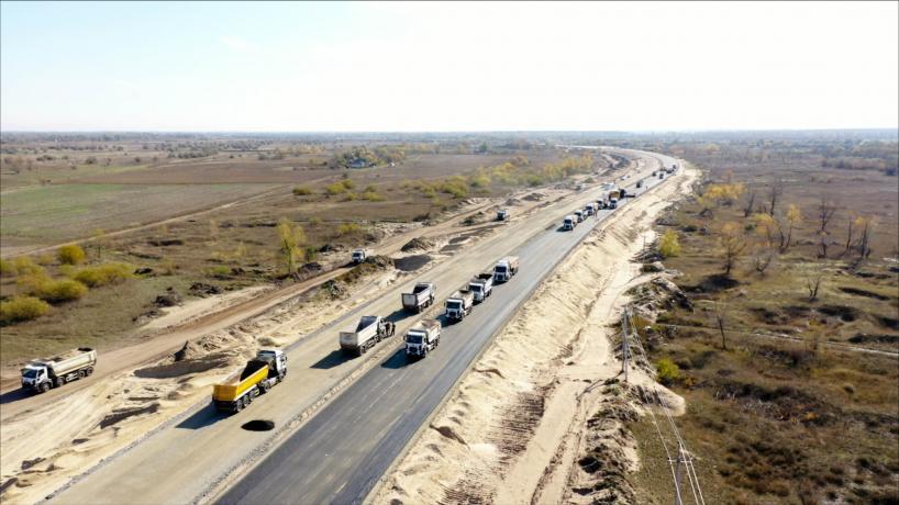 Свежие фотографии с места строительства дороги «с нуля» 1