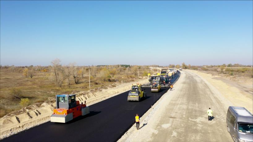 Свежие фотографии с места строительства дороги «с нуля» 2