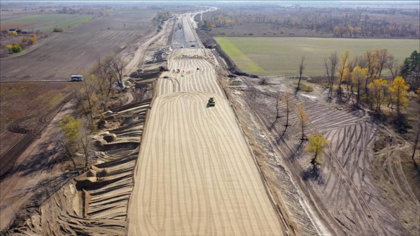 Свежие фотографии с места строительства дороги «с нуля» 3